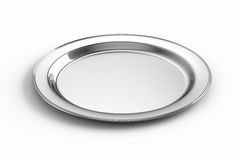 Empty silver plate Stock Image
