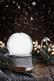 Empty Silver Snow Globe Stock Photography