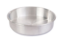Empty silver tray Royalty Free Stock Photo