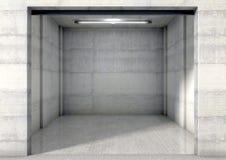 Empty Single Garage Royalty Free Stock Image