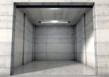 Empty Single Garage Royalty Free Stock Photos
