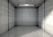 Empty Single Garage Stock Photography