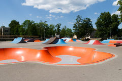 Empty skatepark stock images