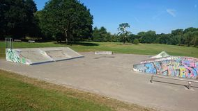 Empty skatepark Stock Photos