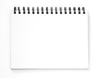 Empty sketchbook royalty free stock images