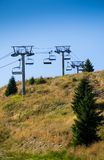Empty ski lift Stock Photo