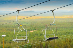 Empty Ski Lift Chairs Royalty Free Stock Image