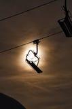 Empty Ski Lift Silhouette Royalty Free Stock Photo