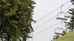 Empty ski lift stock footage