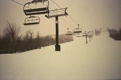 Empty ski lifts Stock Photography