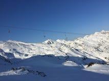 Empty ski resort Stock Image
