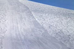 Empty ski slope. Caucasus Mountains. Georgia, ski resort Gudauri Royalty Free Stock Photos