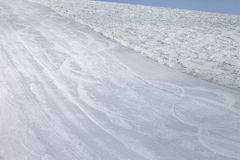 Empty ski slope at cold day Stock Photography