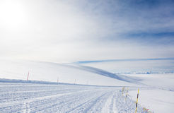 Empty ski slope in high mountain (3900 mt) on the Alps Royalty Free Stock Photos