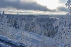 Empty ski slope in winter. In Sweden Royalty Free Stock Photo