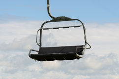 Empty ski lift chair Royalty Free Stock Image