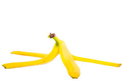 Empty skin of a banana Stock Photography