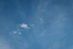 Almost empty sky with little cloud. Background wallpaper for website, artists, reference Royalty Free Stock Image