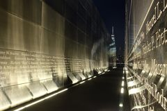 Empty Sky Memorial at Night Stock Images