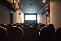 Empty small cinema auditorium Stock Photography