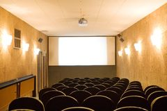 Empty small cinema auditorium Stock Image