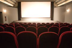 Empty small cinema auditorium Stock Photos
