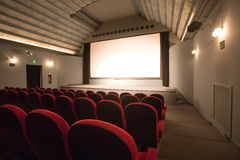 Empty small cinema auditorium Royalty Free Stock Photography