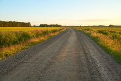 Empty gravel road royalty free stock images