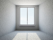 Empty small room with window. The empty small room with big window royalty free illustration