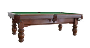 Empty snooker table cutout Stock Image