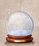Empty snow globe Royalty Free Stock Photos