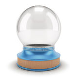 Empty Snow Globe on a blue base. Stock Photography
