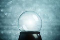 Empty snow globe. Christmas background royalty free stock image