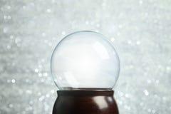 Empty snow globe. Christmas background Royalty Free Stock Photography