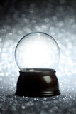 Empty snow globe. Christmas background Stock Photography