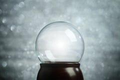 Empty snow globe Christmas. Background Stock Photo