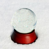 Empty Snow Globe with Copyspace Stock Photos