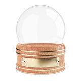 Empty snow globe isolated on white Royalty Free Stock Images