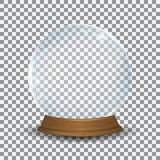 Empty snow globe in realistic style on a transparent background Stock Photo