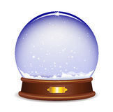 Empty snow globe. Vector illustration isolated on white background Stock Photography