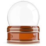 Empty snow globe  on white background Royalty Free Stock Photos