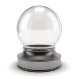 Empty snow globe. On white background. 3d render image Royalty Free Stock Photos