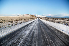 Empty snow road in El Calafate, Patagonia Stock Photography