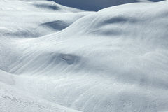 Empty snowy slope Stock Photo