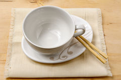 Empty soap cup with chopstick Royalty Free Stock Image