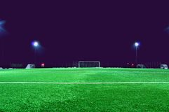 Empty soccer field Royalty Free Stock Photos