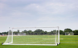 Empty soccer field Royalty Free Stock Photo
