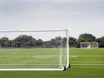 Empty soccer field. On the Floyd Bennet Field, Brooklyn, NY Royalty Free Stock Photography