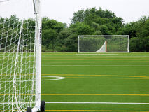 Empty soccer field Stock Image