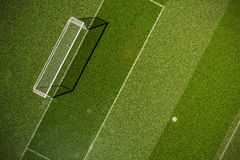 Empty soccer field grass royalty free stock image